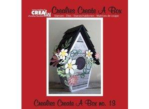 Crealies und CraftEmotions troqueles de corte: pajarera 3D