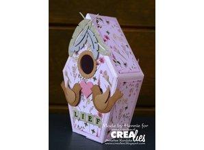 Crealies und CraftEmotions Skæring dies: 3D birdhouse