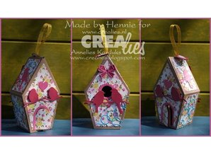 Crealies und CraftEmotions Stamping templates: 3D bird house