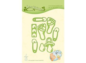 Leane Creatief - Lea'bilities Stamping templates: baby motifs