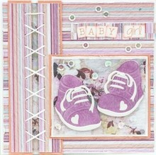 Leane Creatief - Lea'bilities Stamping stencils: Baby shoes