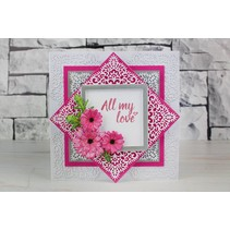 Stamping template: top square