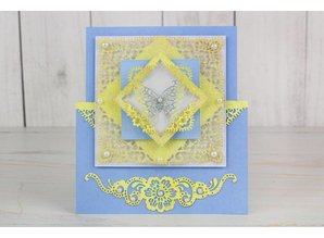 Tattered Lace Stamping template: top square