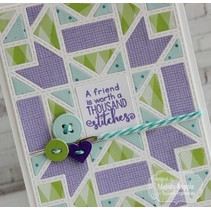Stamping template: Quilted frame