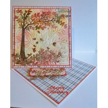 Stamping template: Cherry Tree