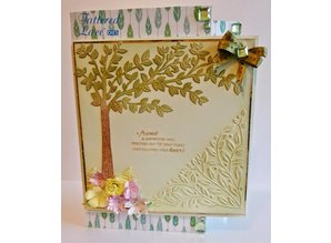 Tattered Lace Stamping template: Cherry Tree
