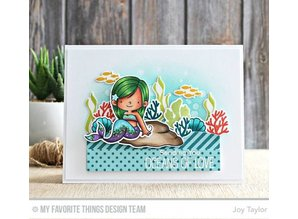 Die-namics Stamping template: mermaids, plants, shells, fish and turtle