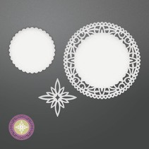 Stamping template: Northstar Doily Set
