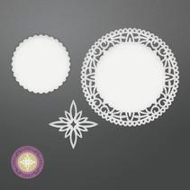 Stanzschablone: North Star Doily Set