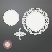 CREATIVE EXPRESSIONS und COUTURE CREATIONS Stanzschablone: North Star Doily Set