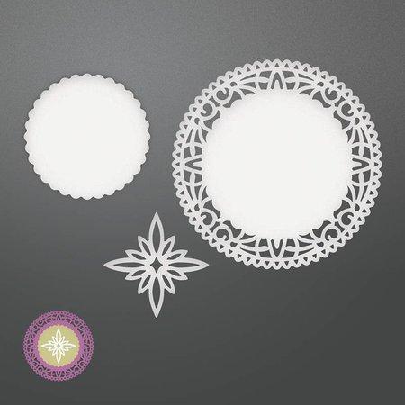CREATIVE EXPRESSIONS und COUTURE CREATIONS plantilla de perforación: Northstar pañito Conjunto