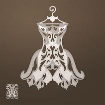 Stanzschablone: Filigranes Kleid (3D)