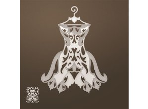 CREATIVE EXPRESSIONS und COUTURE CREATIONS Stansning skabelon: Filigree kjole