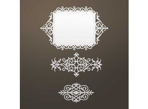 CREATIVE EXPRESSIONS und COUTURE CREATIONS Stamping template: Filigree frames and ornaments