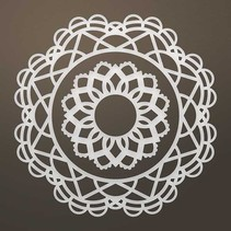Stamping template: Filigree doily SET