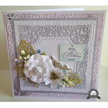 Ponsen sjabloon: Ingewikkeld Decoratief frame, vierkant