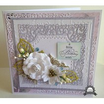 Stamping template: Filigree decorative frame, rectangle