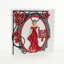 Rubber stamp SET: Elegance Ladies