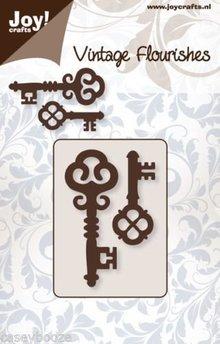 Joy!Crafts plantilla de perforación: 2 Clave de la vendimia