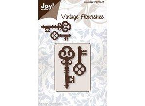 Joy!Crafts Stamping template: 2 vintage keys