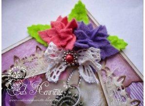 Joy!Crafts Stansning skabelon: 4 blomster med seks kronblade
