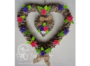 Joy!Crafts Stamping template: 4 flowers with 6 petals