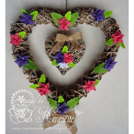 Joy!Crafts plantilla de perforación: 4 flores con seis pétalos