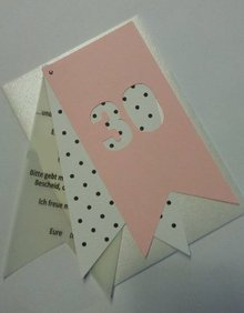 KARTEN und Zubehör / Cards Einladungskarte, Handgemacht