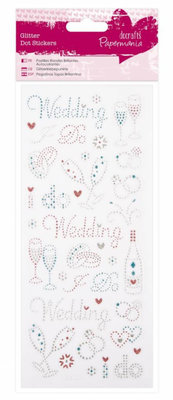 Sticker Sticker Glitter peger - Bryllup