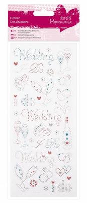 Sticker Sticker Glitzerpunkte - Hochzeit