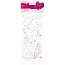 Sticker Glitter wijst ornamenten
