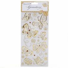Sticker Gem klistermærker, sommerfugle - guld