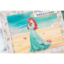 Skæring dør SET: Disney + stempel Demure Ariel ansigt