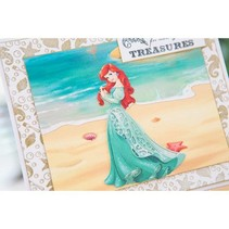 Stansmessen SET: Disney + stempel Demure Ariel gezicht