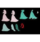DISNEY Skæring dør SET: Disney + stempel Demure Ariel ansigt