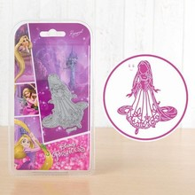 DISNEY Fustelle SET: Disney + Timbro Dreamy Rapunzel faccia