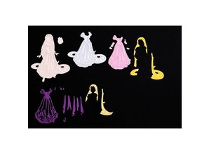 DISNEY Stamping templates SET: Disney + stamp Dreamy Rapunzel face