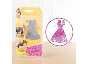DISNEY Stamping Stencils SET: Disney + stamp Enchanted Belle face