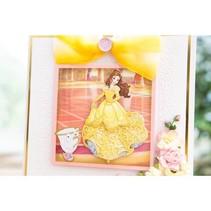 Skæring dør SET: Disney + stemple Prinsesse Belle Waltzing ansigt