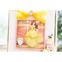 Stansmessen SET: Disney + stempel Princess Belle Waltzing gezicht