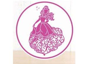 DISNEY Stanzschablonen SET: Disney + Stempel Princess Waltzing Belle Gesicht