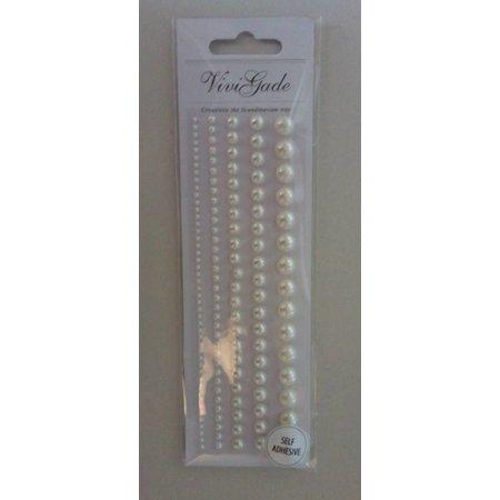 Embellishments / Verzierungen Perler, størrelse 2-8 mm, hvid, sorteret 140