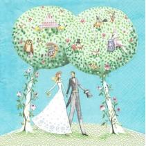 Neu 5 Motivservietten: Hochzeit