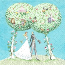 DECOUPAGE AND ACCESSOIRES Nuevos servilletas de papel: 5 boda