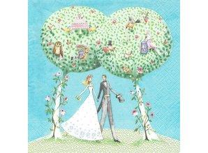 DECOUPAGE AND ACCESSOIRES Neu 5 Motivservietten: Hochzeit
