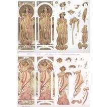 """Die losse vellen: """"Art Nouveau"""" met verschillende afbeeldingen - slechts 5 beschikbaar!"""