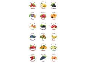 18 etichette autoadesive per la marmellata / frullati