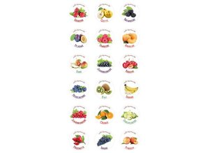 18 self-adhesive labels for jam / smoothies