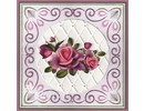 Yvonne Creations Punching and embossing templates: Trellis frame