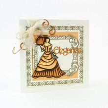 TONIC Stamping Stencils: Elegante Vintage Señora